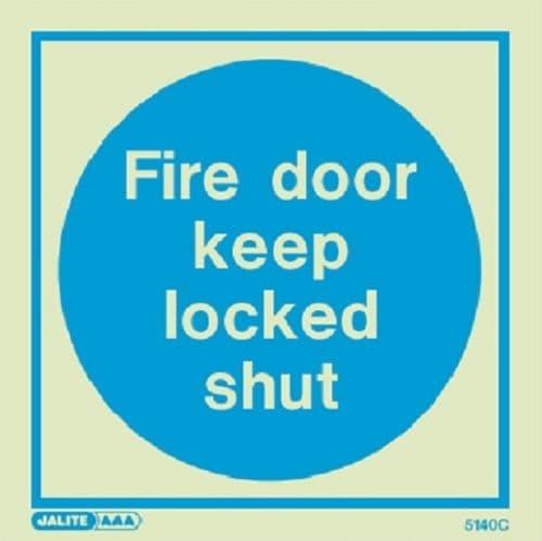 (5140) Jalite Fire door keep locked shut sign